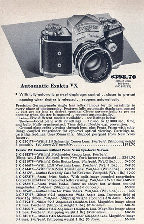 From the 1956 Sears Camera Catalog