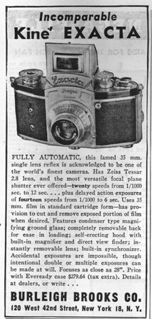 Ad from Popular Photography, October 1948
