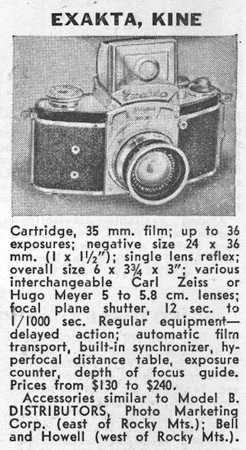 Guide entry from Popular Photography, May 1938