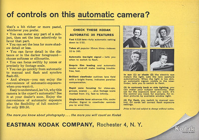 Ad from Popular Photography, May 1960