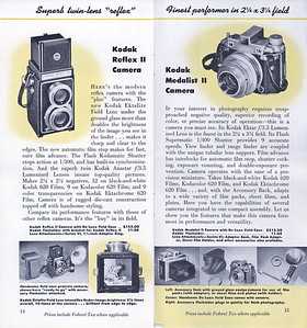 Kodak Camera Line-up, Sept. 1949