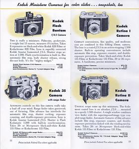 Kodak Camera Line-up, Sept. 1949