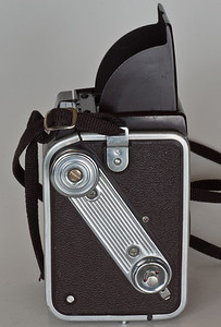 Kodak Duaflex IV (1955-60) - Note Rolleiflex-like covering and fake handle.