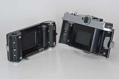 Kodak Ektra, with back removed and slide covering film