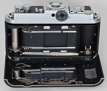 Kodak Ektra with back opened for film loading