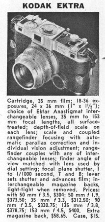 Guide entry from Popular Photography, May 1942