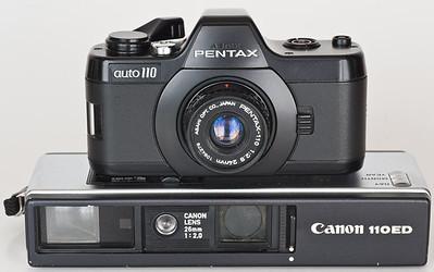 Asahi Pentax Auto 110 with Canon 110ED