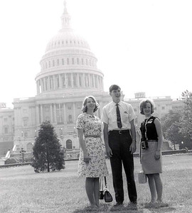 Georgia Youth Tour students at the Capitol.  1966