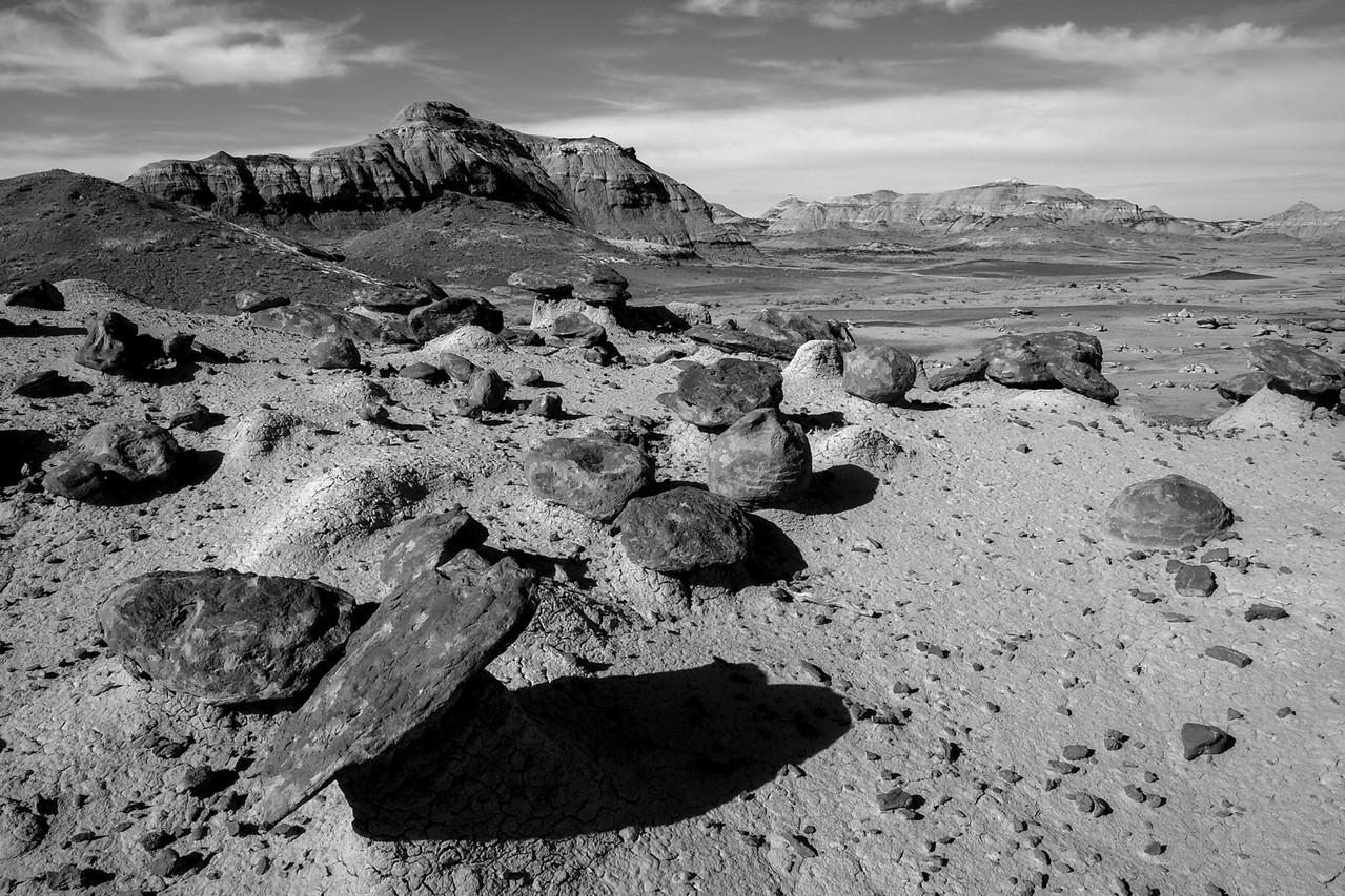 'Bisti Badlands' in New Mexico