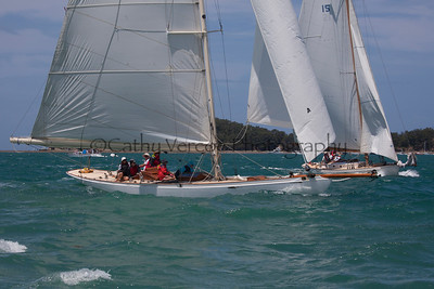 Image taken at the 2013 Classic Yacht Regatta on Mahurangi Harbour north of Auckland in New Zealand. Cathy Vercoe LuvMyBoat.com