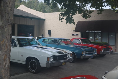 Three 1971 Chevys