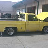 Yellow Chevy pickup - starboard
