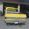 Yellow chevy pickup - back