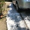 Foam on driveway
