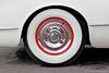 Beautiful rear wheel of a 1953 Corvette.
