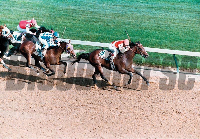 Alysheba winning the 1987 Kentucky Derby