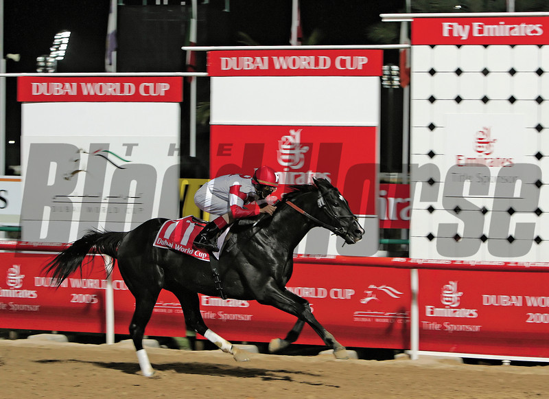 Dubai World Cup 2005. <br /> 'Roses In May' ridden by John Velazquez wins Dubai World Cup 2005