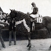 Forego with Bill Shoemaker aboard after winning the 1976 Marlboro Cup.<br /> Bob Coglianese Photo