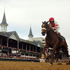 Photo by Skip Dickstein - Edgar Prado on Round Pond in The Breeders'  Distaff held today November 4, 2006 at Churchill Downs in Louisville, Kentucky.