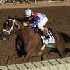 Azeri with Pat Day (number 1) wins the Overbrook Spinster (gr. I) <br /> Keeneland racing on Oct. 9, 2004,  in Lexington, Ky.<br /> Photo by Anne M. Eberhardt