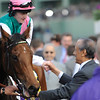 Photo by Skip Dickstein - Midday with jockey Thomas Queally aboard is the winner of the Breeders' Cup Fillies and Mares Turf at Santa Anita November 6, 2009.