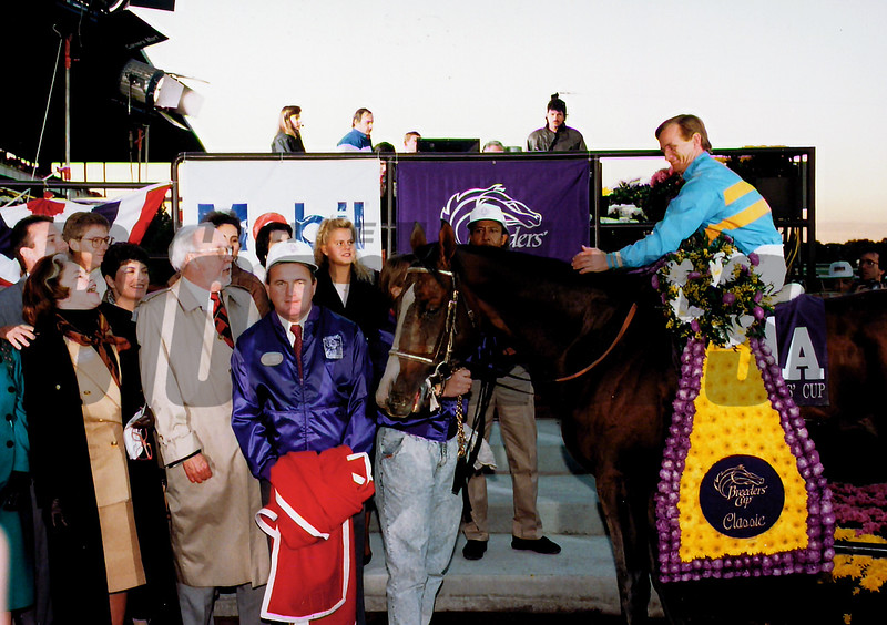 Unbridled wins the 1990 Breeders' Cup Classic<br /> Skip Dickstein Photo