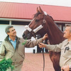 Carl Nafzger with Unbridled at Gainesway, 1991<br /> Photo by: Anne M. Eberhardt