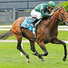 Gio Ponti wins the Man O War Stakes at Belmont Park. <br /> Photo by: Adam Coglianese