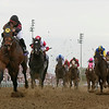 Photo by Skip Dickstein -  Jockey Javier Castelano wins the 21 running of the Breeders' Cup Classic on Ghostzapper at Lone Star Park in Grand Prairie Texas October 30, 2004.