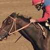 Xtra Heat with Harry Vega up winning the Phoenix Breeders' Cup (gr. II), at Keeneland on Oct. 5, 2002.<br /> Photo by Anne M. Eberhardt