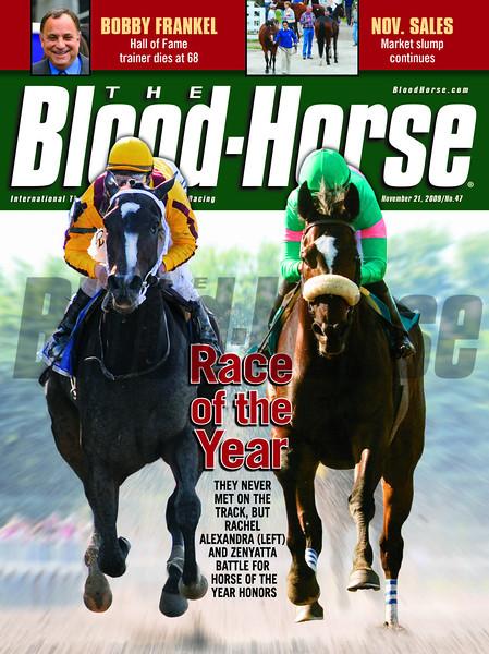 November 21, 2012 Cover of The Blood-Horse featuring Rachel Alexandra and Zenyatta.