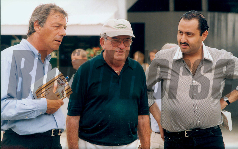 Henry Cecil, Dick Mulhall and Ahmed Salman in 1998