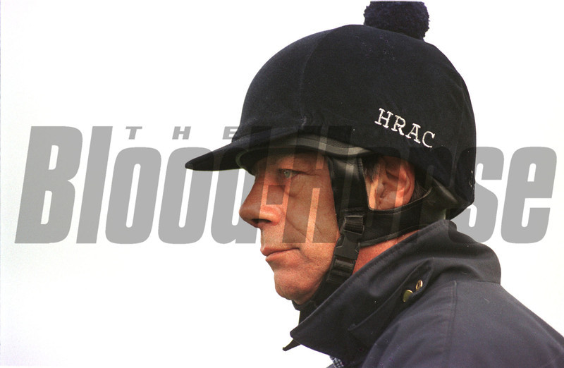 Newmarket 6/4/98 Henry Cecil watches his sting on Warren Hill today. © Trevor Jones