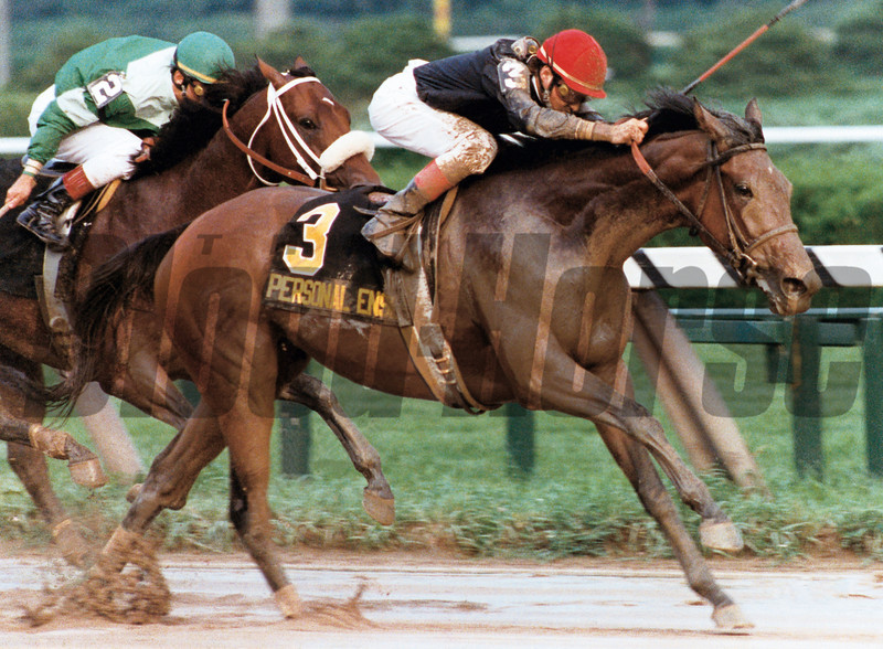 Personal Ensign whipped the boys in the 1988 Whitney Handicap at Saratoga in New York. <br /> Photo by: SKip Dickstein