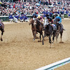 Macho Uno wins the 2000 Breeders' Cup Juvenile.<br /> Dave Harmon Photo.