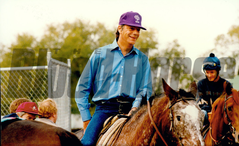 Henry Cecil in 1994 trainer of Eltish 2nd in the Breeders' Cup Juvenile