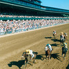 Menifee wins the 1999 Bluegrass Stakes at Keeneland.<br /> Photo by: Anne M. Eberhardt