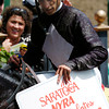 Photo by SKIP DICKSTEIN -  JOHN VELAZQUEZ  AT SARATOGA AFTER HIS 3000 WIN