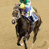Ashado wins the 2003 Spinaway Stakes (gr. I) at Saratoga on August 29, 2003 with Edgar Prado aboard.<br /> Coglianese Photos