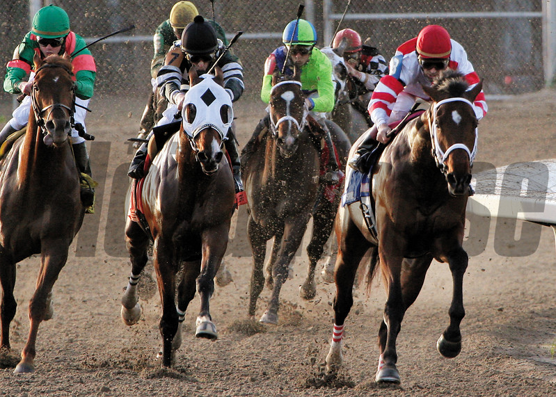 Hard Spun wins the 2007 Lecomte Stakes at Fair Grounds<br /> Hodges Photography/Lou Hodges Jr.