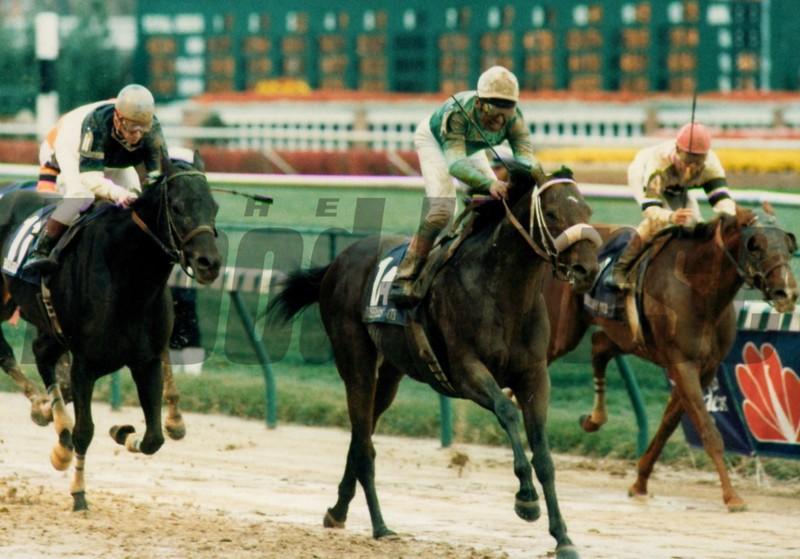Gulch wins the 1988 Breeders' Cup Sprint<br /> Skip Dickstein