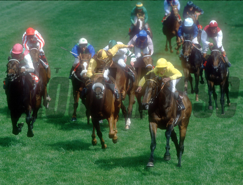 Reference Point / Steve Cauthen wins The Derby 1987 © Trevor Jones