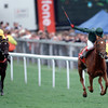 Epsom 4th. June 99<br /> Ramruma wins The Oaks from  Noushkey.<br /> © Trevor Jones