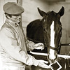 Genuine Risk with trainer LeRoy Jolley