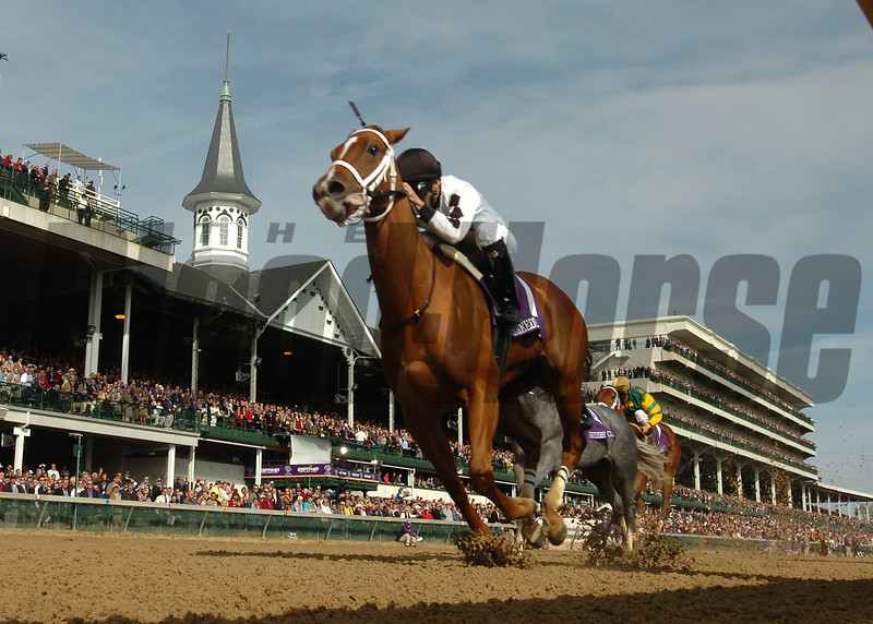 Dreaming of Anna with Rene Douglas wins The Breeders'  Cup Juvenile Fillies held today November 4, 2006 at Churchill Downs in Louisville, Kentucky.<br /> Photo by Skip Dickstein