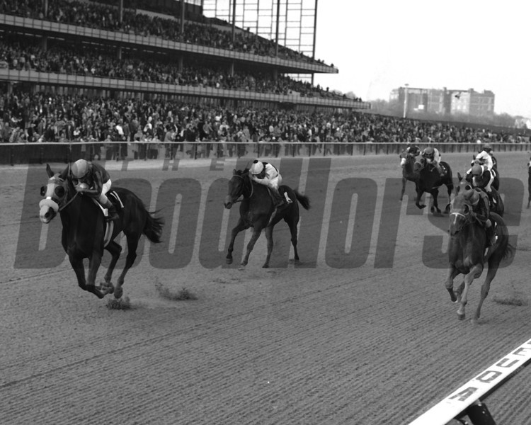 Chris Evert winning the 1974 Acorn Stakes<br /> Coglianese Photo