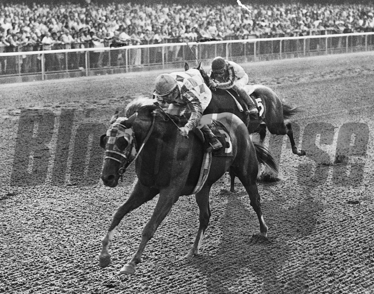 Secretariat wins the Futurity at Belmont.<br /> Coglianese Photos