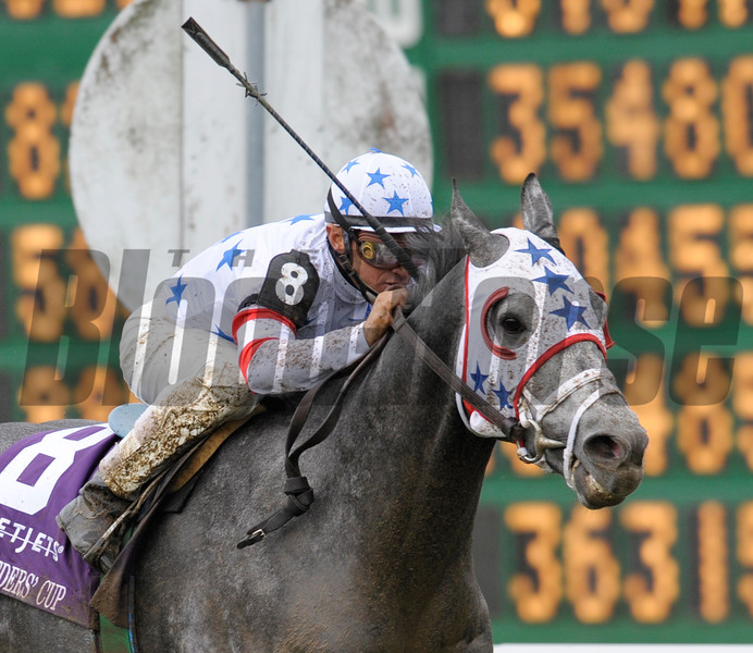 Photo By Skip Dickstein -Breeders' Cup Mile with Kip Deville at Monmouth October 27, 2007.