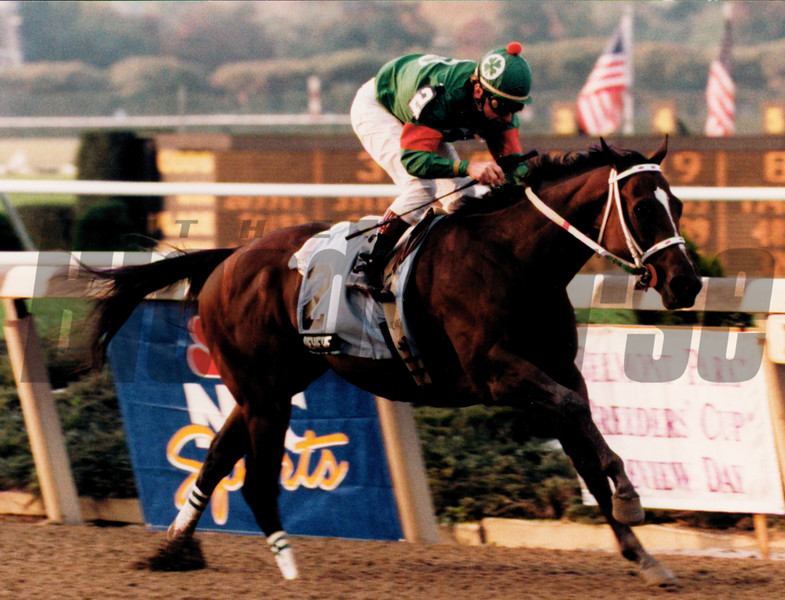 Batch 61, Dehere at the Champagne Stakes in 1993, photo by Skip Dickstein