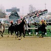 Sheikh Albadou wins the 1991 Breeders' Cup Sprint<br /> Skip Dickstein